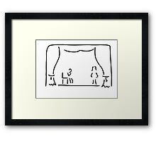 actor theatre stage Framed Print