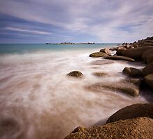 Port Elliot, misty waters by Michael Buddle