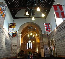 Praying at the St Mary Church inside Dover Castle in England by ashishagarwal74
