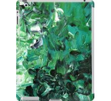 Canopy Green and Black Modern Abstract Tree Art iPad Case/Skin