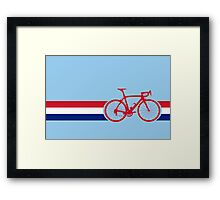 Bike Stripes British National Road Race Framed Print