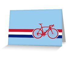Bike Stripes British National Road Race Greeting Card
