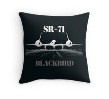SR 71 Blackbird Throw Pillow