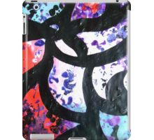 Whirlpool swirling abstract painting in black red purple blue white iPad Case/Skin