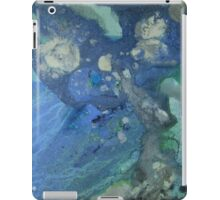 Modern abstract seascape painting Drift in Blue Green and Gray iPad Case/Skin