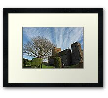 Family entering St Mary Church inside Dover Castle in England Framed Print