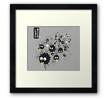 Makkuro Kurosuke Ink Framed Print