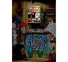Graffiti and Lightbox Hosier Lane Photographic Print