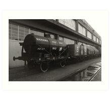 Wagons in Bristol Art Print