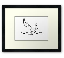 sail boat sports sailings Framed Print