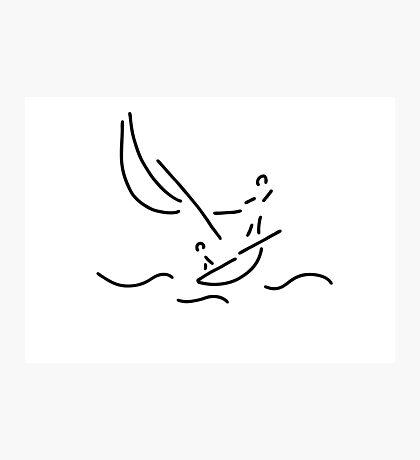 sail boat sports sailings Photographic Print