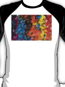 Parade contemporary abstract festival multicolour painting T-Shirt