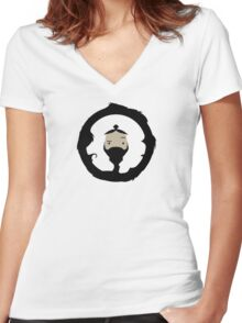 The Beard Is Wild Women's Fitted V-Neck T-Shirt