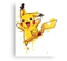 Pikachu Splatter Metal Print