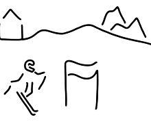 alpine skier by lineamentum