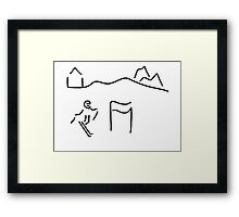 alpine skier Framed Print