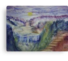 Landscape in an experimental technique Canvas Print