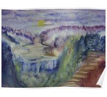 Landscape in an experimental technique Poster