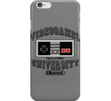 Videogames University iPhone Case/Skin