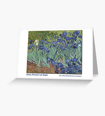 Irises by Vincent Vincent van Gogh Greeting Card