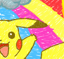Pikachu Sky Sticker