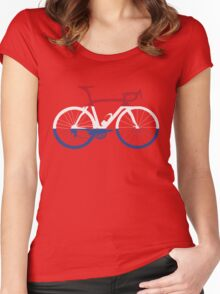 Bike Flag Netherlands (Big) Women's Fitted Scoop T-Shirt