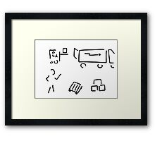 forwarding agent logistics forwarding agency Framed Print