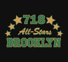 718 BROOKLYN ALLSTARS*GREEN/YELLOW T-Shirt