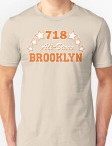 718 BROOKLYN ALLSTARS*ORANGE/WHITE Unisex T-Shirt