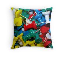 Pushpins Throw Pillow