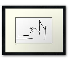 pole vault athletics Framed Print