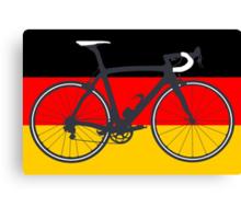 Bike Flag Germany (Big - Highlight) Canvas Print