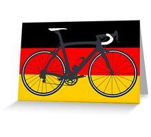 Bike Flag Germany (Big - Highlight) Greeting Card