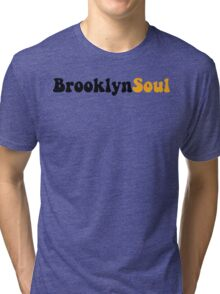 BROOKLYN SOUL*BLACK/YELLOW Tri-blend T-Shirt