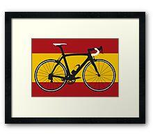 Bike Flag Spain (Big - Highlight) Framed Print