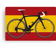 Bike Flag Spain (Big - Highlight) Canvas Print