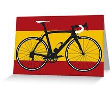 Bike Flag Spain (Big - Highlight) Greeting Card