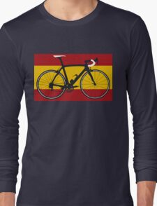 Bike Flag Spain (Big - Highlight) Long Sleeve T-Shirt