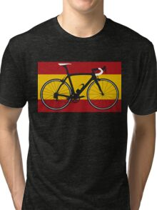 Bike Flag Spain (Big - Highlight) Tri-blend T-Shirt