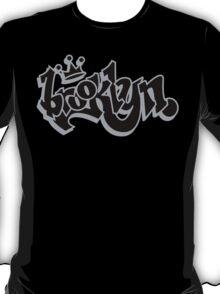 BROOKLYN GRAFF STYLE*BLACK/SILVER T-Shirt