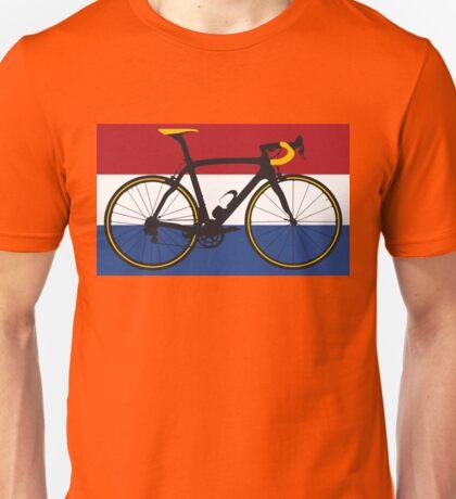 Bike Flag Netherlands (Big - Highlight) Unisex T-Shirt