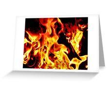 Flames Aglow Greeting Card