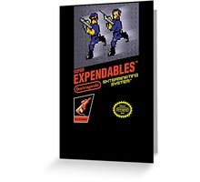 Super Expendables Greeting Card