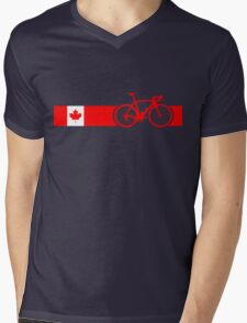 Bike Stripes Canadian National Road Race Mens V-Neck T-Shirt