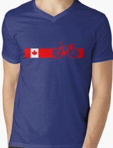 Bike Stripes Canadian National Road Race Mens V-Neck T-Shirt