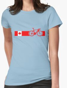 Bike Stripes Canadian National Road Race Womens Fitted T-Shirt