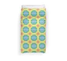 Rainbow Colors Paper Cut Tile Pattern Duvet Cover