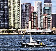 Chicago IL - Sailing on Lake Michigan by Susan Savad