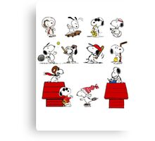 Snoopy - All characters Canvas Print