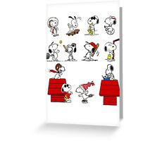 Snoopy - All characters Greeting Card